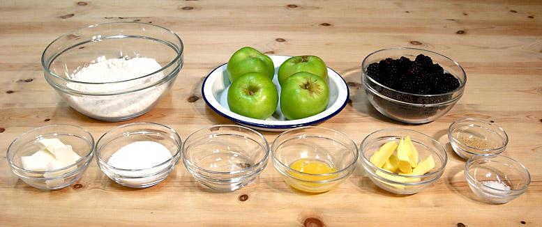 Apple & Blackberry Pie Ingredients