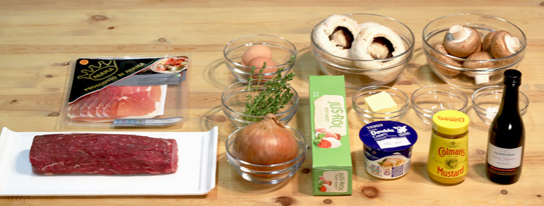 Beef Wellington Ingredients