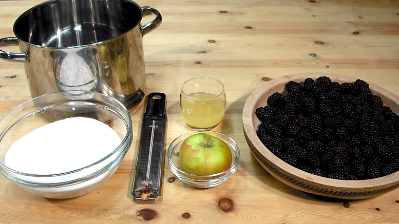 Ingredients For Blackberry Jam