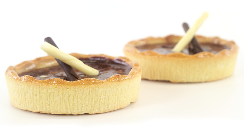 Chocolate Caramel Tarts For Two
