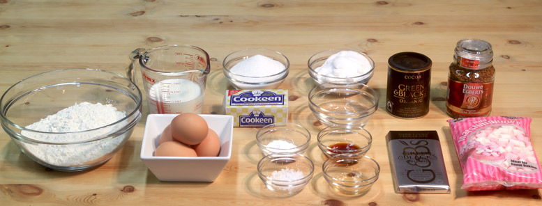 Chocolate Marshmallow Cake Ingredients