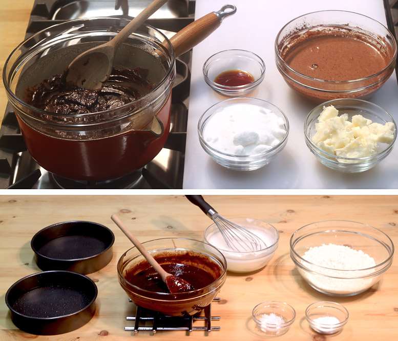 Making The Cake Batter For The Chocolate Marshmallow Cake