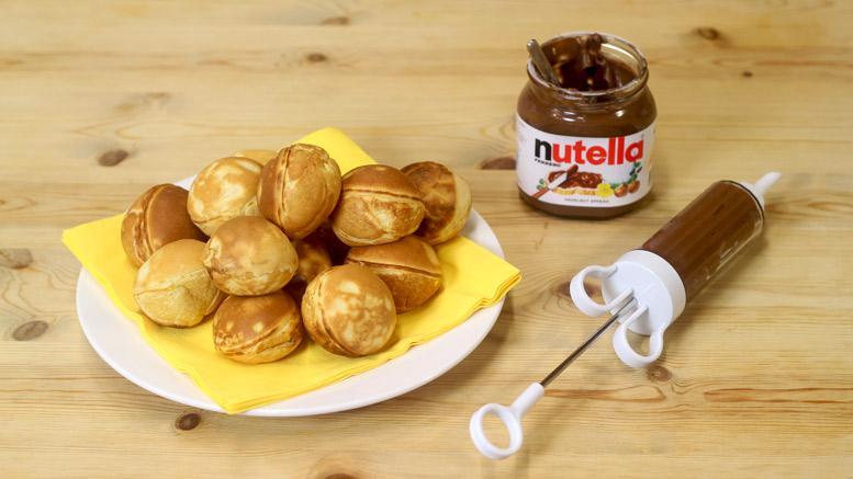 Filling The Chocolate Pancake Balls