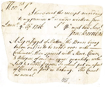 Cornish Pasty 1746 Recipe