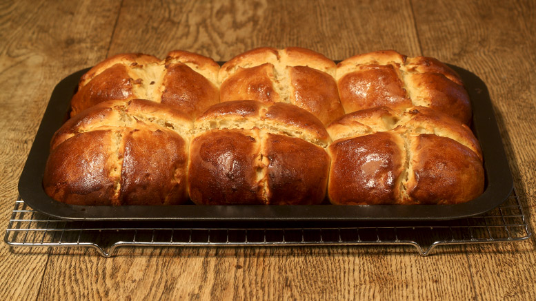 Good Friday Buns Baked From The Oven