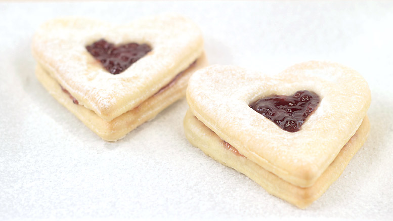 Jam-Heart Butter Biscuits