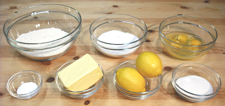 Lemon Drizzle Cake Ingredients