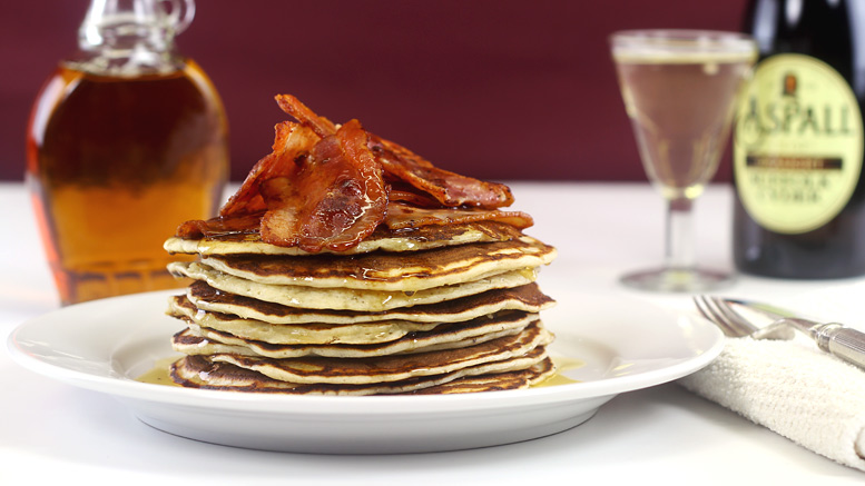 Pancakes Bacon Maple Syrup