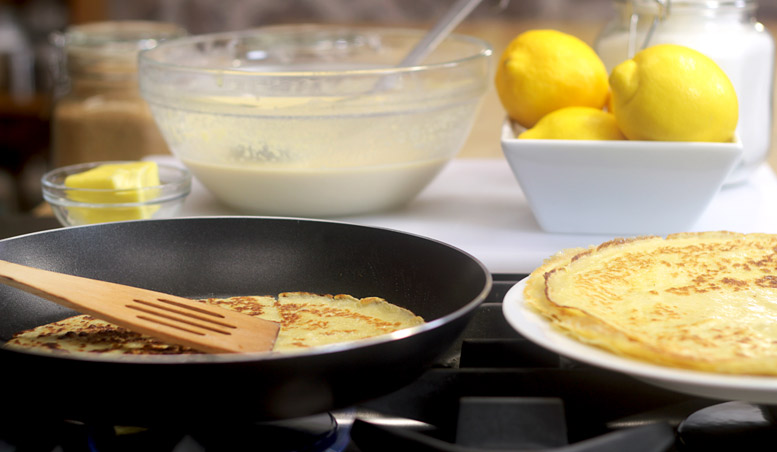 Making Traditional English Pancakes