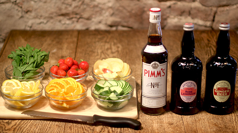 Ingredients For A Pimms Cocktail