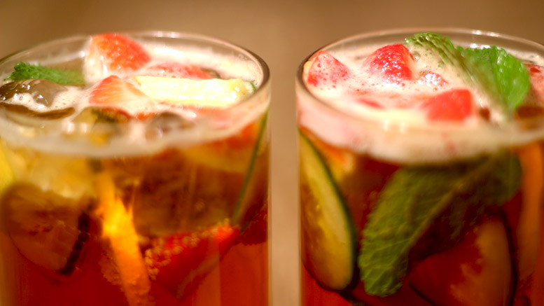 Glasses Pimms Cocktail