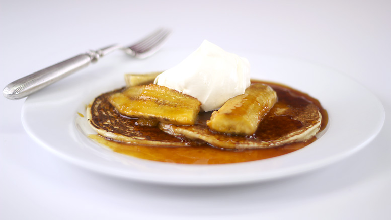 Scotch Pancakes And Rum Banana Caramel