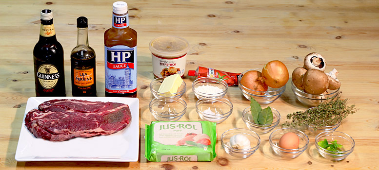 Ingredients To Make A Steak And Ale Pie