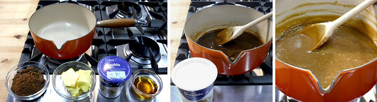 Making The Sticky Toffee Sauce
