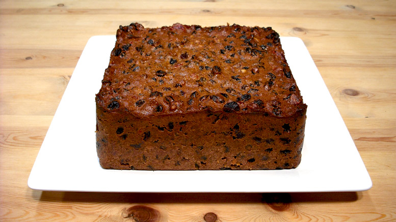 A Traditional Christmas Cake Ready For Decoration