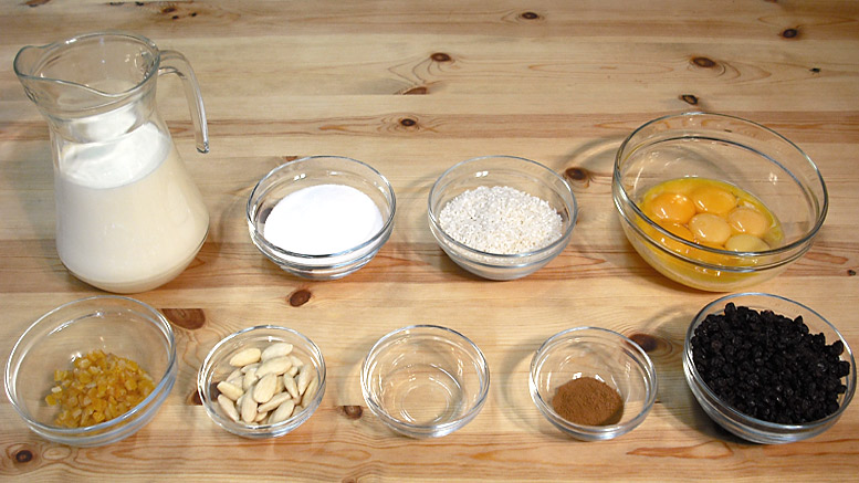 Whitepot Rice Pudding Ingredients